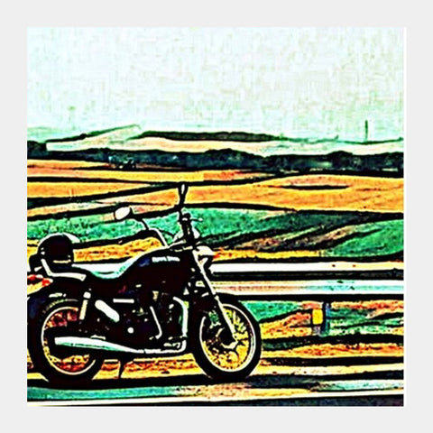 Royal Enfield Art Square Art Prints | Artist : Rockpire Designs