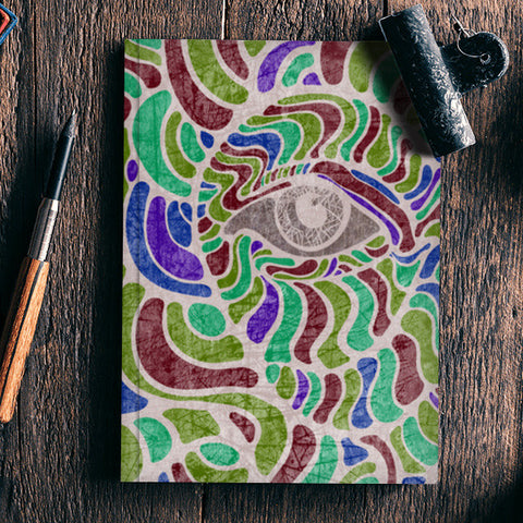 abstract eye colorful vector illustration Notebook | Artist : Simran Sain
