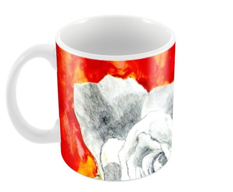 Abstract Rose Coffee Mugs | Artist : Ajooni Singh