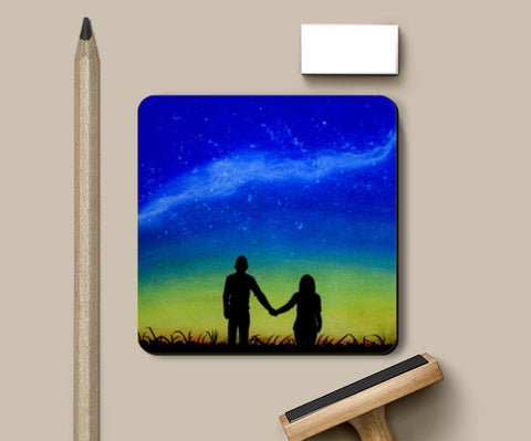 Sunset Love Painting Coasters | Artist : Rahul Tanwar