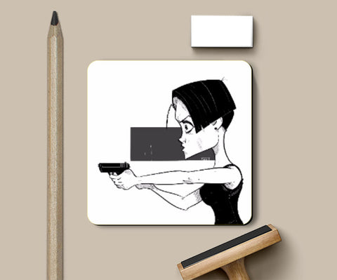 Coasters, Double O Chick Black and White Coaster | Artist: Sachin Sivakumaran, - PosterGully