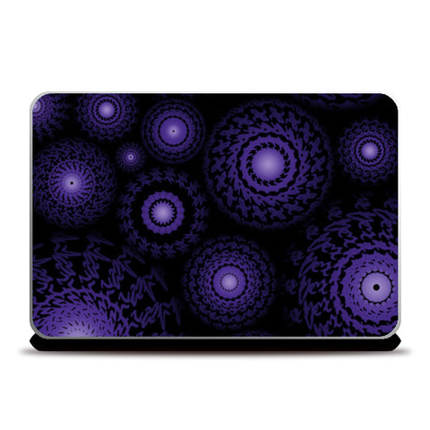 Laptop Skins, Purple spirograph Laptop Skins | Artist : marika, - PosterGully
