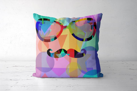 Cool Moustache Pop Art Cushion Covers | Artist : SREY