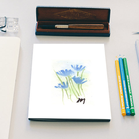 Cornflower Watercolour, Notebook Notebook | Artist : Manas Arvind