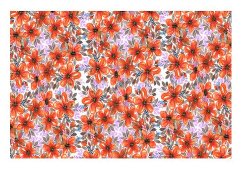 Blooming Orange Wildflowers Painted Floral Spring Background  Wall Art PosterGully Specials