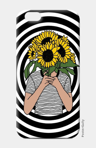 sunflower mono iPhone 6/6S Cases | Artist : Priyanka Paul