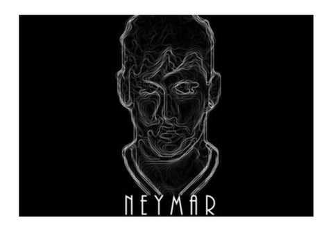 PosterGully Specials, Neymar Wall Art | Artist : Ayush Yaduv, - PosterGully