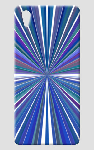 Abstract Blue Rays Indigo Sunburst  One Plus X Cases | Artist : Seema Hooda