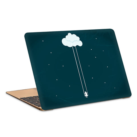 Dream Girl Swinging On Cloud Artwork Laptop Skin