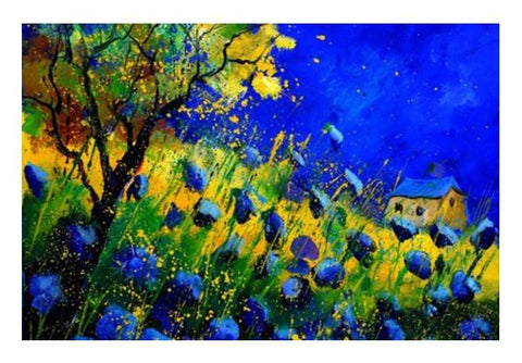 PosterGully Specials, blue poppies 556130 Wall Art | Artist : pol ledent, - PosterGully