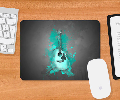 Guitar Splash – Aqua Mousepad | Artist : Darshan Gajara's Artwork