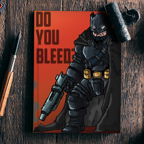 BATMAN(do you bleed ?) Notebook | Artist : abhilash kumar