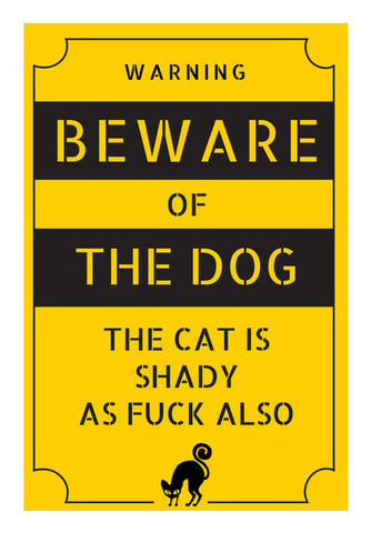 Shady Cat Wall Art | Artist : Scatterred Partikles