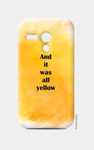 COLDPLAY : YELLOW Moto G Cases | Artist : Kau.Vish