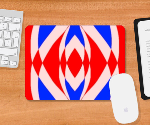 Mousepad, Red and Blue Mousepad | Artist : CK GANDHI, - PosterGully