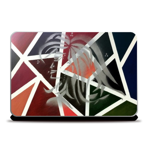 Confidence | Woman | Abstract - Oil & Spray Painting Laptop Skins | Artist : Nandini Rawat