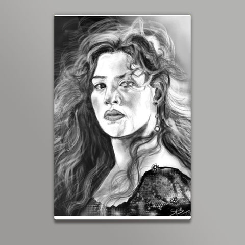 Kate Winslet-Rose Titanic Metal Prints | Artist : Draw On Demand