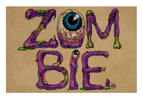 Wall Art, Zombie | Artist:  Monisha Miriam, - PosterGully