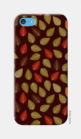 Seamless pattern with multicolored leaf on dark background iPhone 5c Cases | Artist : Designerchennai