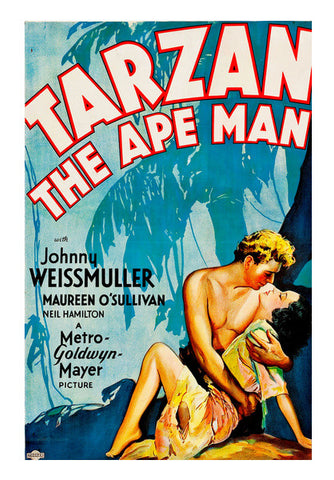 Tarzan The Ape Man Vintage Wall Art | Artist : Sabrina Ruiz