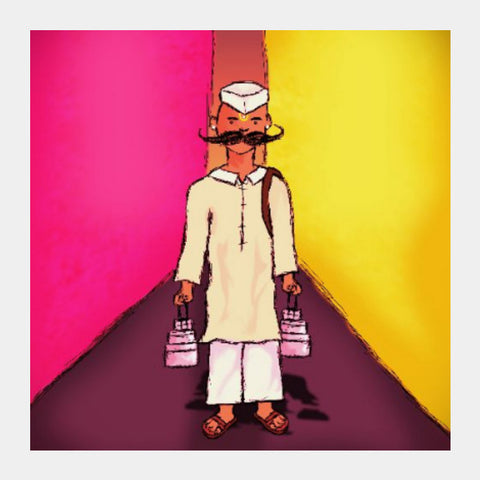 Square Art Prints, Dabbawala Square Art | Akshay Jadhav, - PosterGully