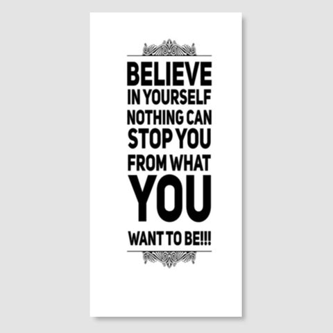 Believe | Quote  Door Poster | Artist : Nandini Rawat