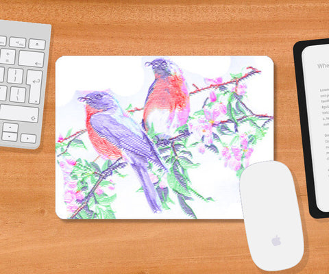Mousepad, 2 Colorful Birds Mousepad | Artist : CK GANDHI, - PosterGully
