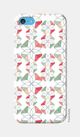 Flowers Retro Shapes Geometric Pattern iPhone 5c Cases | Artist : Designerchennai
