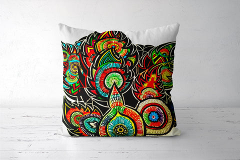 Scribbles Cushion Cover | Artist: Awanika Anand