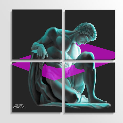 OLYMPUS_Four Piece Canvas Set | Artist : Sidharth Ojha