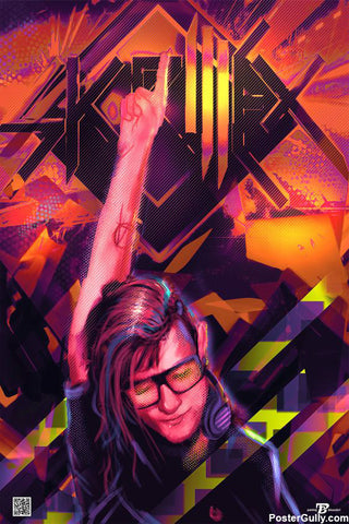 Brand New Designs, Skrillex Illustration Artwork | Artist: Pankaj Bhambri, - PosterGully - 1