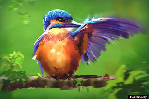 Brand New Designs, Bird Color Painting Artwork | Artist: Raviraj Kumbhar, - PosterGully - 1