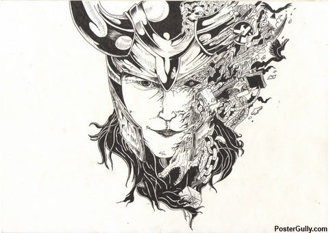 Wall Art, Loki Artwork | Artist: Shyam Zawar, - PosterGully - 1
