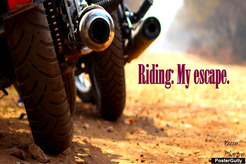 Brand New Designs, Riding My Escape Artwork | Artist: Chhatraveer Singh Gaur, - PosterGully - 1
