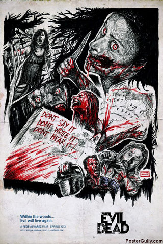 Wall Art, Evil Dead Artwork | Artist: Karthik Abhiram, - PosterGully