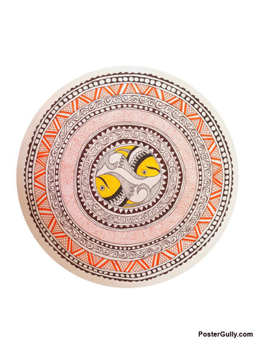 Brand New Designs, Madhubani Circle White Artwork | Artist: Pallavi Dahiya, - PosterGully - 1