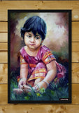 Brand New Designs, Sweet Girl Painting #2 Artwork | Artist: Raviraj Kumbhar, - PosterGully - 2