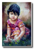 Brand New Designs, Sweet Girl Painting #2 Artwork | Artist: Raviraj Kumbhar, - PosterGully - 3