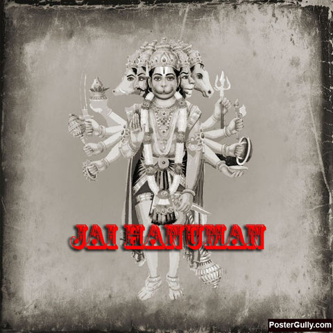 Brand New Designs, Hanuman Ji Grey Artwork | Artist: Pradeesh K, - PosterGully