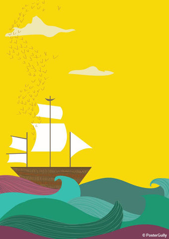 Brand New Designs, Ship Minimal Artwork | Artist: Annushka, - PosterGully - 1