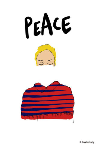 Brand New Designs, Peace Girl Fashion Artwork, - PosterGully - 1