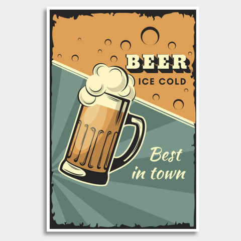 Best In Town Beer Giant Poster | Artist : Inderpreet Singh