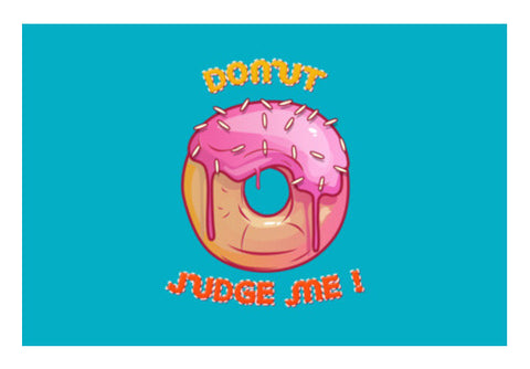 donut judge me  Wall Art  | Artist : Himanshu Sood