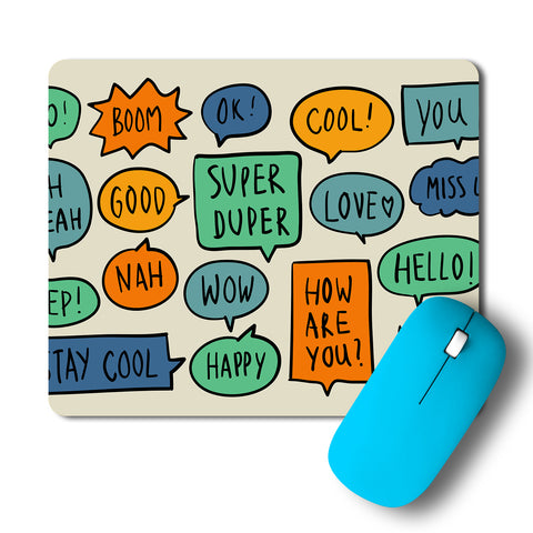 Yo Boom Ok Cool Pop Art Mousepad