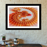Premium Italian Wooden Frames, Lizard on the Wall Premium Italian Wooden Frames | Artist : CK GANDHI, - PosterGully - 1