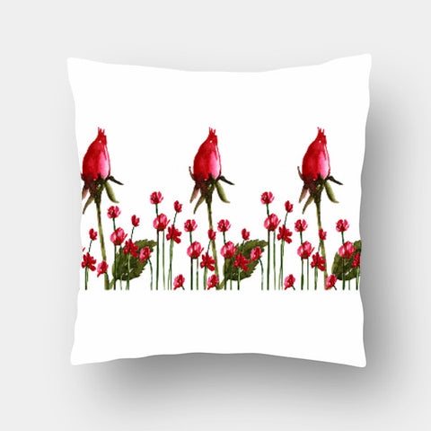 Cushion Covers, Rose Buds Cushion Cover l Artist: Seema Hooda, - PosterGully