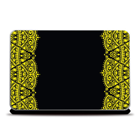 Laptop Skins, Ethnic Indian Motif Laptop Skin | Artist: Pratyusha Subramaniam, - PosterGully