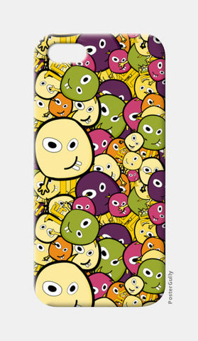 Doodle characters pattern iPhone 5 Cases | Artist : Designerchennai