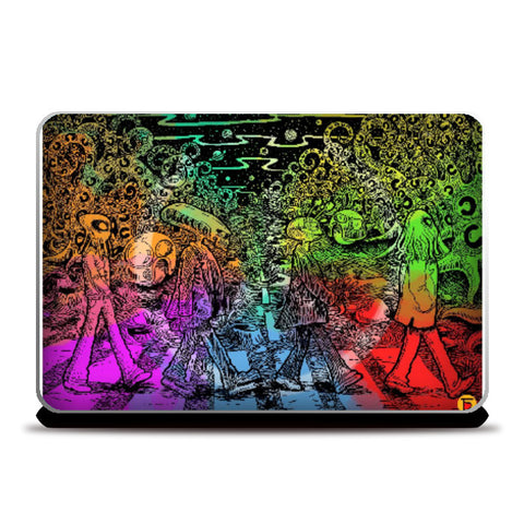 Laptop Skins, The Alien Beatles Laptop Skin | Artist :Charbak Dipta, - PosterGully