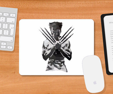Mousepad, Low Poly Wolverine Mouse Pad | Artist: Darshan Gajara, - PosterGully